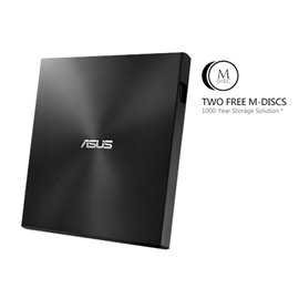 MASTERIZZATORE DVD ASUS ZENDRIVE ESTERNO DOUBLE LAYER SLIM  8X  USB2 (SIAE INCLUSA) BLACK USB C