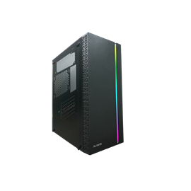CASE MIDI ATX 500W COLORE NERO,  USB2, USB3, STRIP LUMINOSA RAIBOW ANTERIORE