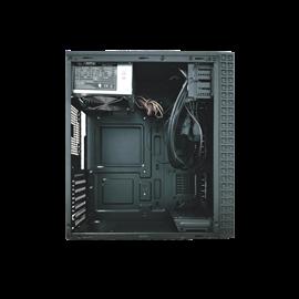 CASE MIDI ATX 500W COLORE NERO,  USB2, USB3, STRIP LUMINOSA RAIBOW ANTERIORE