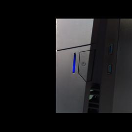 CASE MIDI ATX  COLORE NERO,  USB2, USB3, CARDREADER, TRE VENTOLE LUMINOSE RAIBOW ANTERIORI, SLOT DVD