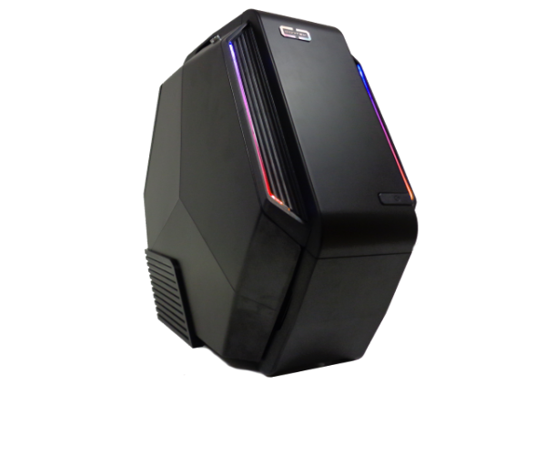 CASE MIDI ATX HEXANE NERO-VERDE, USB3, USB2, FORMA ESAGONALE