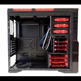 CASE MIDI ATX NERO+ROSSO , USB3, USB2, SLOT DVD