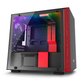 CASE NZXT W-H200I BLACK-RED MINI-ITX