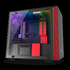 CASE NZXT W-H200I BLACK-RED MINI-ITX
