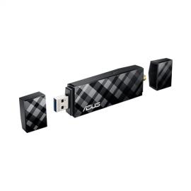 ADATTATORE USB WIRELESS  ASUS   USB-AC56 802.11AC 867MB USB 3.0 2.4/5 GHZ CON DUE ANTENNE