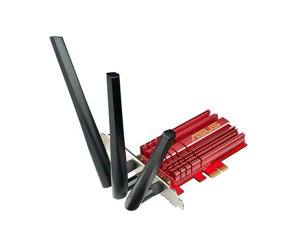 ADATTATORE PCI-EXPRESS WIRELESS 1900 MB 802.11A/B/G/N/AC ASUS PCE-AC68, 2,4/5 GHZ, ANTENNA  ESTERNA REGOLABILE