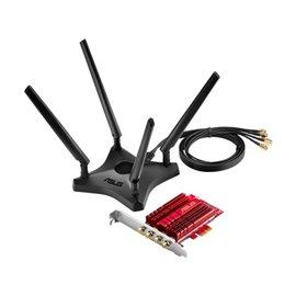 ADATTATORE PCI-EXPRESS WIRELESS AC3100 2167/1000 MB 802.11A/B/G/N/AC ASUS PCE-AC88, 2,4/5 GHZ, ANTENNA  ESTERNA REGOLABILE