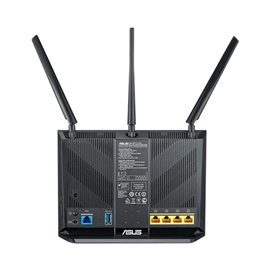 MODEM ROUTER ASUS DSL-AC68U VDSL2/ADSL2, FIBRA,  CON SWITCH 4 PORTE 1GB, ACCESS POINT DUAL BAND (2.4 E 5 GHZ) 1900 MB A/B/G/N/AC