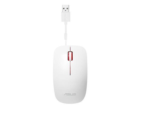 MOUSE ASUS UT300 WHITE-RED