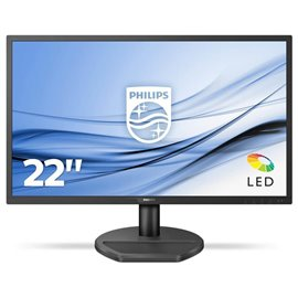 "MONITOR PHILIPS LCD 21.5"" LED  WIDE 221S8LDAB   16:9 TFT LCD, RIS. 1920X1080, CONTRASTO 10MIL.:1, 5 MS, 0,25 D.P. LUMINOSITA' 25"