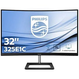 "MONITOR PHILIPS LCD CURVO 31,5"" LED IPS WIDE 325E1C   16:9 LCD, RIS. 2560X1440, 4 MS, 0,27 D.P.DP,  HDMI, DVI"