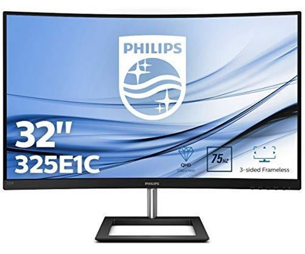 "MONITOR PHILIPS LCD CURVO 31,5"" LED IPS WIDE 325E1C   16:9 LCD, RIS. 2560X1440, 4 MS, 0,27 D.P.DP,  HDMI, DVI"