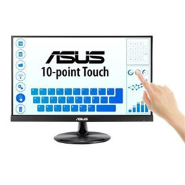"""MONITOR ASUS LED 21,5"""" VT229H IPS TOUCH  RIS. 1920X1080,  DOT PITCH 0548,  5 MS, VGA HDMI DVI, MULTIMEDIAL"""