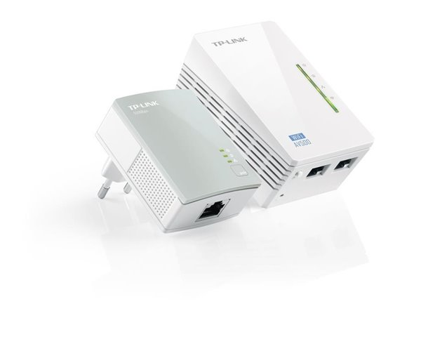 KIT N.2 POWERLINE ETHERNET BRIDGE 500 MB CON WIRELESS TP-LINK WPA4220KIT